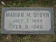 Marian Maude <I>Walton</I> Brown