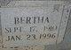Profile photo:  Bertha <I>Woodie</I> Clark