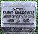Profile photo:  Fanny Moskowitz