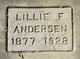 Profile photo:  Lillie F <I>Masterson</I> Andersen