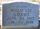 Profile photo:  Willie Lee Adams