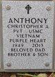 Pvt Christopher Allen Anthony