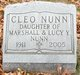 Profile photo:  Cleo Nunn