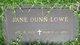 Profile photo:  Jane <I>Dunn</I> Lowe