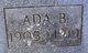 Profile photo:  Ada B. Foland