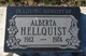 Profile photo:  Alberta <I>Laughlin</I> Hellquist