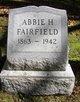 Profile photo:  Abbie H Fairfield
