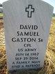 Profile photo:  David Samuel Gaston, Sr
