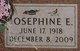 Profile photo:  Josephine E. According