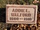 Profile photo:  Addie L. Walford