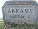 Martha E. <I>Wilber</I> Abrams