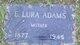 Emma Lura <I>Halley</I> Adams