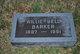 Willie Bell <I>Holmes</I> Barker