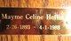 Mayme Celine Heflin