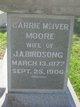 Carrie McIver <I>Moore</I> Birdsong