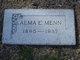 Profile photo:  Alma E <I>Simmons</I> Menn