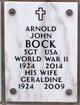 Profile photo:  Arnold John Bock