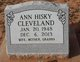 Profile photo:  Ann Hiskey <I>Hisky</I> Cleveland