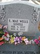 "Profile photo:  Essie Mae ""E. Mae"" <I>Wells</I> Lovell"