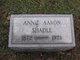 Annie Mary <I>Aaron</I> Shadle