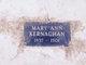 Profile photo:  Mary Ann Kernaghan