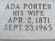 Profile photo:  Ada Angeline <I>Porter</I> Barnes