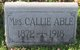 Profile photo:  Callie <I>Bragg</I> Able