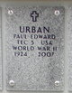 Profile photo:  Paul Edward Urban