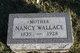 """Nancy """"Nannie"""" <I>McClanahan</I> Wallace"""