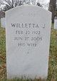 """Willetta Jeanne """"Willie"""" <I>Walker</I> Balla"""