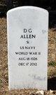 "Profile photo:  Dilmus George ""D. G."" Allen"