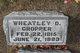 Profile photo:  Wheatley D. Cropper