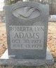 Profile photo:  Roberta Lyn Adams