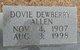 Profile photo:  Dovie Lee <I>Dewberry</I> Allen