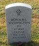 Profile photo:  Donald L Washington