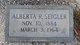 "Profile photo:  Alberta ""Berta"" <I>Reynolds</I> Seigler"