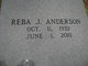 Profile photo:  Reba Jacqueline <I>Johnson</I> Anderson