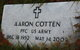 Profile photo: PFC Aaron Cotten
