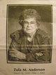 Profile photo: Mrs Zula Mildred <I>Williams</I> Anderson