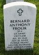 Profile photo:  Bernard Anthony Frolik