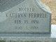 """Profile photo:  Kathryn """"Kathy"""" <I>Ferrell</I> Adams"""