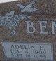 Profile photo:  Adelia E. <I>Carlson</I> Benninga