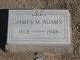 Profile photo:  James M Adams