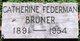 Profile photo:  Catherine <I>Federman</I> Bruner