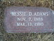 Profile photo:  Bessie Delia <I>Reed</I> Adams