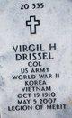 Profile photo: Col Virgil Homer Drissel