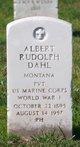 Profile photo:  Albert Rudolph Dahl