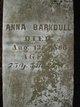 Anna <I>Douglas</I> Barkdull