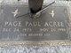 Page Paul Acree