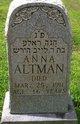 """Profile photo:  Anna """"Annie"""" Altman"""
